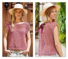 petit pull sans manches Knit Crochet, Crochet Hats, Drop Top, Summer Knitting, Blouses For Women, Knitting Patterns, Cashmere, Lady, Alpaca