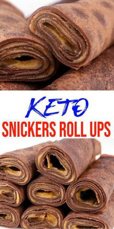Keto Snickers roll ups! EASY keto recipe for the BEST low carb Snickers candy roll ups. Put a twist on Snickers candy bars with these low carb roll ups. These are a new favorite in our house. Keto Desserts, Keto Snacks, Nutella Snacks, Low Carb Meal, Keto Meal Plan, Keto Chocolate Recipe, Chocolate Roll, Roll Ups Recipes, Low Carb Recipes