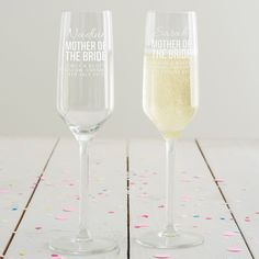 Personalised Mother Of The Bride Champagne Flute £24 www.beckybroome.com