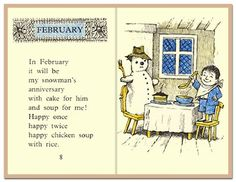 'Chicken Soup with Rice' written & illustrated by Maurice Sendak