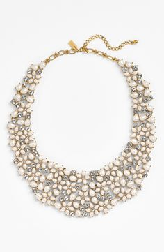 The prettiest Kate Spade bib necklace. Perfect for a wedding or special occasion this summer.