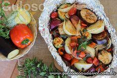 Quer um #almoço nutritivo e com baixas calorias? Faça esses deliciosos e simples Legumes Assados no Forno! #Receita aqui: http://www.gulosoesaudavel.com.br/2014/08/27/legumes-assados-forno/