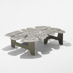 Donald Drumm, Cast Aluminum and Enameled Steel Coffee Table for Donald Drumm Studios, 1967.