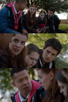 TJ, Jana, Emilia, & Matei   Wolfblood Season 4 Episode 2