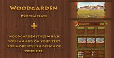 Woodgarden - Creative PSD Template by DeadlyShadoff Woodgarden ¨CCreativePSDTemplate with unusual design of elements in floral stylistic.Pages Home (with image slider) About us Portfo