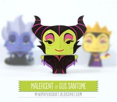 Mini Papercraft: Maleficent - Disney mini papercraft
