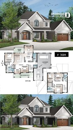 House plan with 2 master suites 3 car garage formal dining breakfast nook . - House plan with 2 master suites 3 car garage formal dining breakfast nook 4 beds 35 bathrooms 9 & Sims House Plans, House Layout Plans, Garage House Plans, Family House Plans, Ranch House Plans, Country House Plans, New House Plans, Dream House Plans, Modern House Plans