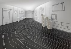 Nendo exhibit that tricks you into thinking you're inside a living room
