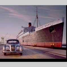 1953 BMW 501 and 1939 Queen Mary Ocean Liner