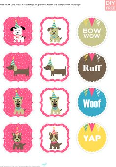 Doggy Printables...for FREE