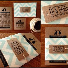 """Invitaciones Pack Chevron! #papeleriaweddingfactory"""