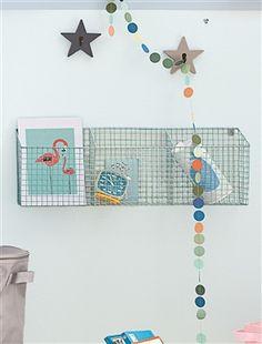 Fresh Aufbewahrungsbox zum Aufh ngen aus Drahtgitter originelle moderne und dekorative Aufbewahrung Praktisch im Schlafzimmer