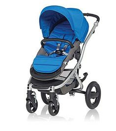 Affinity Stroller by Britax - Silver base frame with Sky Blue color pack #baby #stylish #dazzlingblue