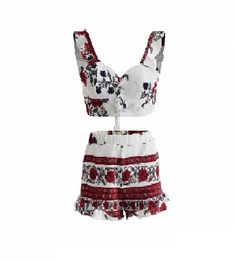Ladies White and red lace-up tassel tie oriental print co-ord set for wholesale - clothing/co-ords - Women's Wholesale Clothing Supplier Red Lace, Lace Up, Oriental Print, Summer Swimwear, Tie Set, Co Ord, Clothing Co, Beach Babe, Wholesale Clothing