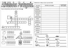 ATIVIDADES DIVERSAS CLÁUDIA: Atividades de Português. Maio13