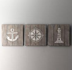 Wood-Plank Nautical Art- Restoration Hardware Baby and Child