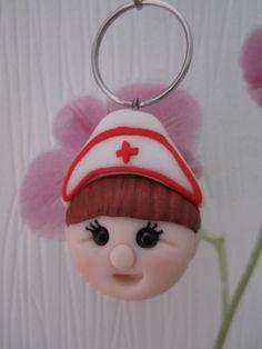 Fimo sleutelhanger verpleegster