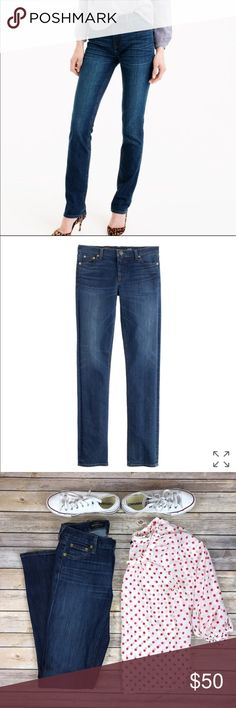 "J. Crew Matchstick Jeans, Women's Size 27"" J. Crew Women's Matchstick Jeans, Size 27"" in awesome condition. No stains, tears or flaws with a lot of life left! Wash is a lighter dark wash. Inseam is just over 31"" inches. Great fit! J. Crew Jeans"