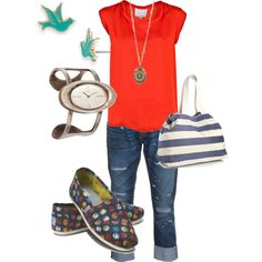 colorful casual, created by berura.polyvore.com