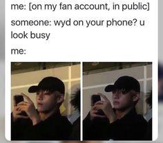 i don't go on my fan acc in public lmao