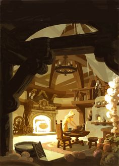 Amazing Tangled Concept Art You've Never Seen Tangled Concept Art, Disney Concept Art, Environment Concept, Environment Design, Animation Background, Art Background, Arte Disney, Disney Art, Concept Art Landscape