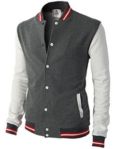 H2H Mens Slim Fit Varsity Baseball Bomber Jacket CHARCOAL... https://www.amazon.com/dp/B00SUTNTFG/ref=cm_sw_r_pi_dp_x_uzg7xbCB60FNP