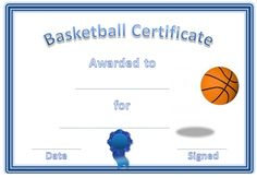 free basketball certificate templates