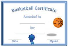 basketball awards certificates