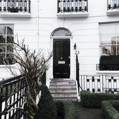 Monochrome London doorways | onlinestylist on Instagram |