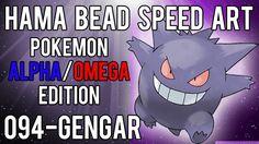 Hama Bead Speed Art | Pokemon | Alpha/Omega | Timelapse | 094 - Gengar