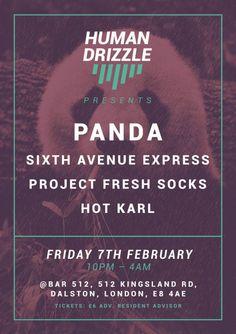 Human Drizzle feat. Panda | Bar 512 | London | https://beatguide.me/london/event/bar-512-human-drizzle-presents-20140207