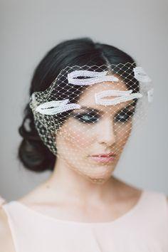 Minevra Bridal Blusher. Wedding Headband, Bridal Headband, Wedding Accessories, Bridal Headpiece by OffwhiteStudio on Etsy