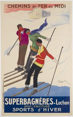 Superbagneres - Luchon by Cappiello, Leonetto | Shop original vintage Art Deco #posters online: www.internationalposter.com