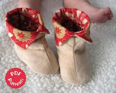 Cuffed Baby Booties - 6 sizes   Craftsy