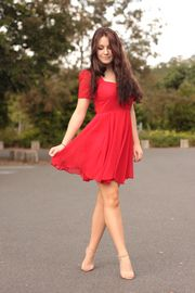 #style #woman #red #dress