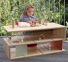 Qubis Haus - the coffee table that thinks it's a dolls house - http://babyology.com.au/furniture/qubis-haus-the-coffee-table-that-thinks-its-a-dolls-house.html