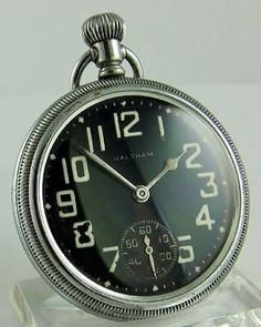 Shop our extensive collection of unique and original Waltham vintage pocket watches. Old Pocket Watches, Old Watches, Pocket Watch Antique, Vintage Watches, Wrist Watches, Elegant Watches, Unique Watches, Steampunk Watch, Gentleman