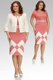 traje dama palo de rosa y blanco