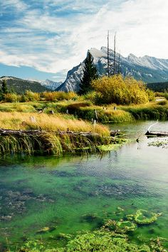 ✯ Vermaillion Lake with a view of Mount Rundle - Banff National Park, Canada