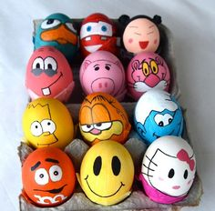 Awesome Easter Egg designs for easter day .Easter egg photos ,funny easter egg designs ,homemade easter eggs in basket Cool Easter Eggs, Easter Egg Crafts, Easter Art, Painting Eggs For Easter, Funny Easter Eggs, Easter 2014, Easter Ideas, Easter Bunny, Art D'oeuf