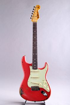 FENDER CUSTOM SHOP[フェンダーカスタムショップ] Michael Landau Signature 1963 Relic Stratocaster Fiesta Red over 3CS|詳細写真