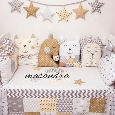 Bed protector bedding set with modular bumper Baby Decor, Baby Shower Decorations, Nursery Decor, Yellow Kids Rooms, Childrens Teepee, Bed Protector, Baby Room Diy, Crafts Beautiful, Cot Bedding