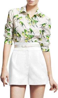 Carolina herrera Birds Print blouse