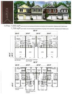 MultiFamily Plan 65339 has plenty of room for two families at 3188 on