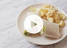 Brilliant! How to roll a wrap so that all of those yummy fillings don't end up on your lap.