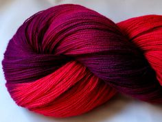 FERIA - huge yardage in this skein  approx 1057m  Hand dyed laceweight Angora lambswool yarn 150g by YummyYarnsUK, £21.50