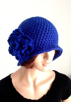 Crochet Cloche. 1920s High Fashion Inspired Hat. by Africancrab, $18.00