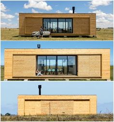 Modular shipping container homes by Cocoon Modules: Athens-based company Cocoon Modules in collaboration with eco-furniture brand Coco-Mat has created a modul Tiny House Cabin, Tiny House Design, Modern House Design, My House, Sea Container Homes, Container Cabin, Shipping Container Homes, Container Buildings, Container Architecture