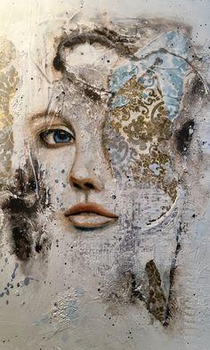 Artwork by Kim Johnson Oil and mixed media