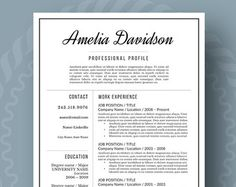 Modern Resume Template For Word, 1 3 Page Resume + Cover Letter + Reference  Page | US Letter | INSTANT DOWNLOAD | Claire